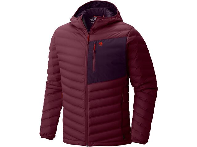Mountain Hardwear M´s StretchDown Hooded Jacket Cote du Rhone